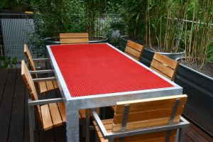 The ipe deck is our most used garden room.